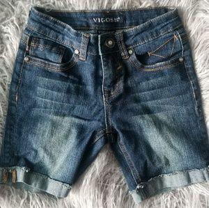 Girls Vigoss Butterfly embellished Denim Shorts